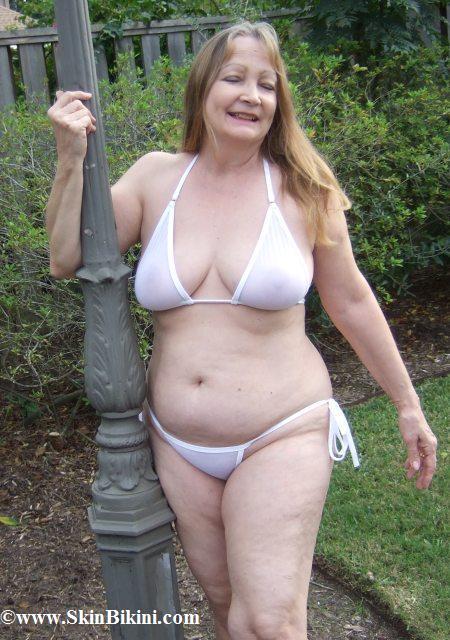 size see through bikini Plus