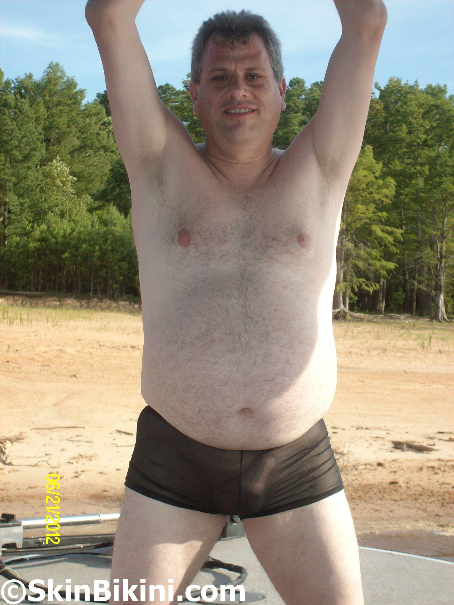 Men in sexy micro scrunch back bikini by skinbikini.com