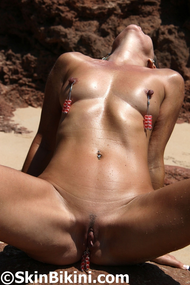Girl clit piercings