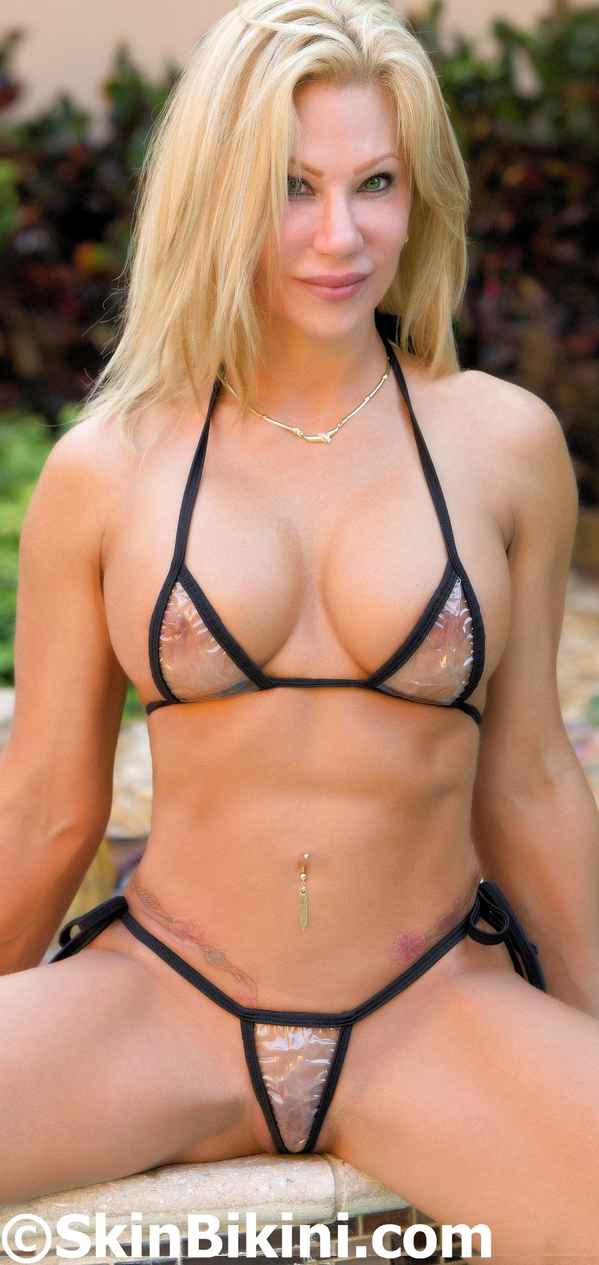 sexy PVC see-thru micro thong bikini from skinbikini.com