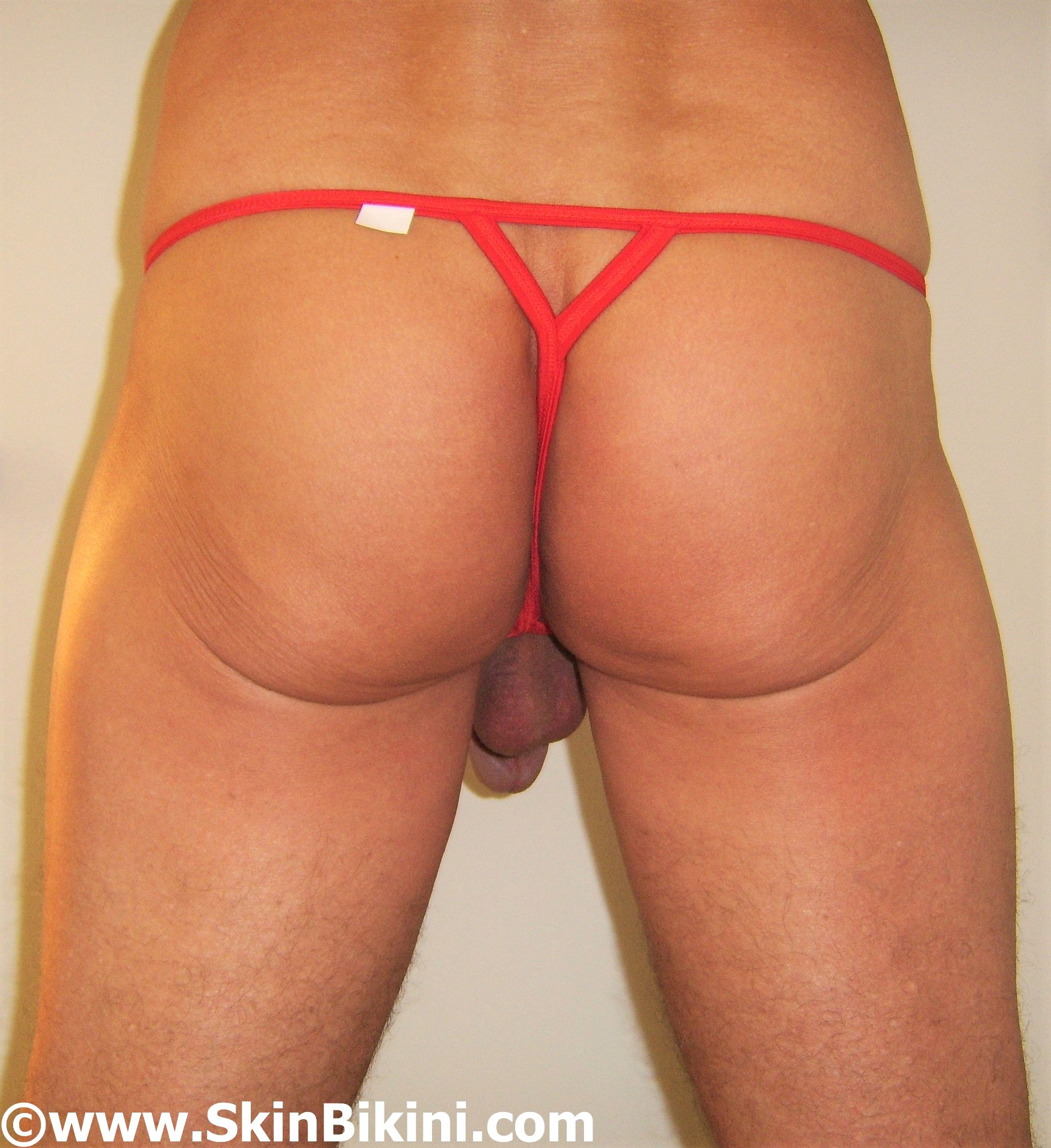 men's extreme thong bikini - crotchless - let me out